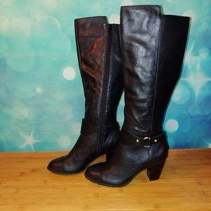 Giani Bernini tall black boots size 5 NWOT